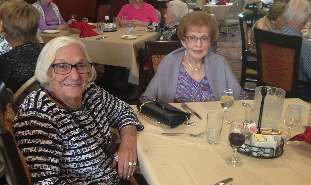 Great friends are made at the senior living in Santa Rosa