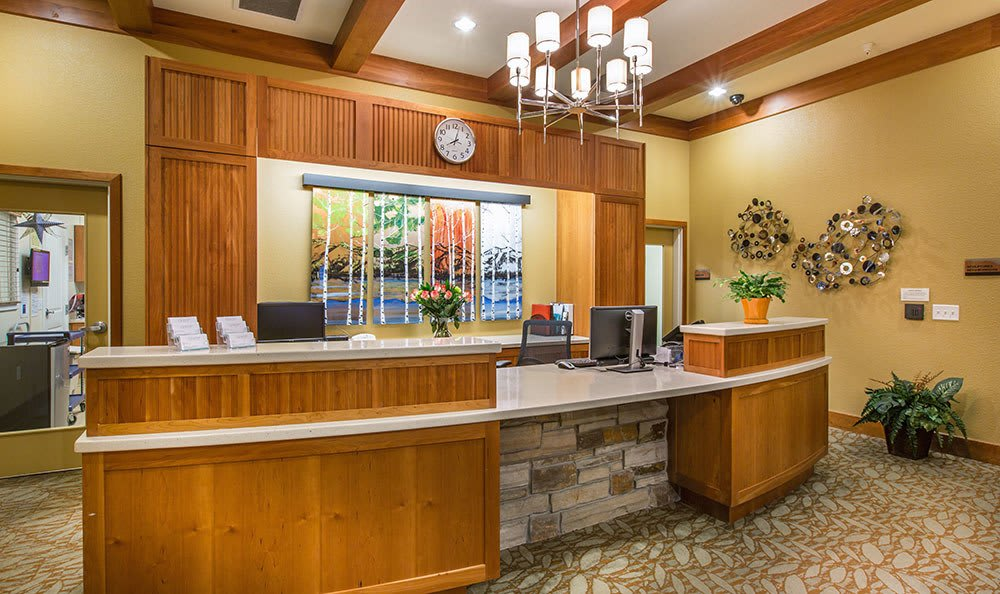 Welcoming Front Desk at the senior living community in Loveland