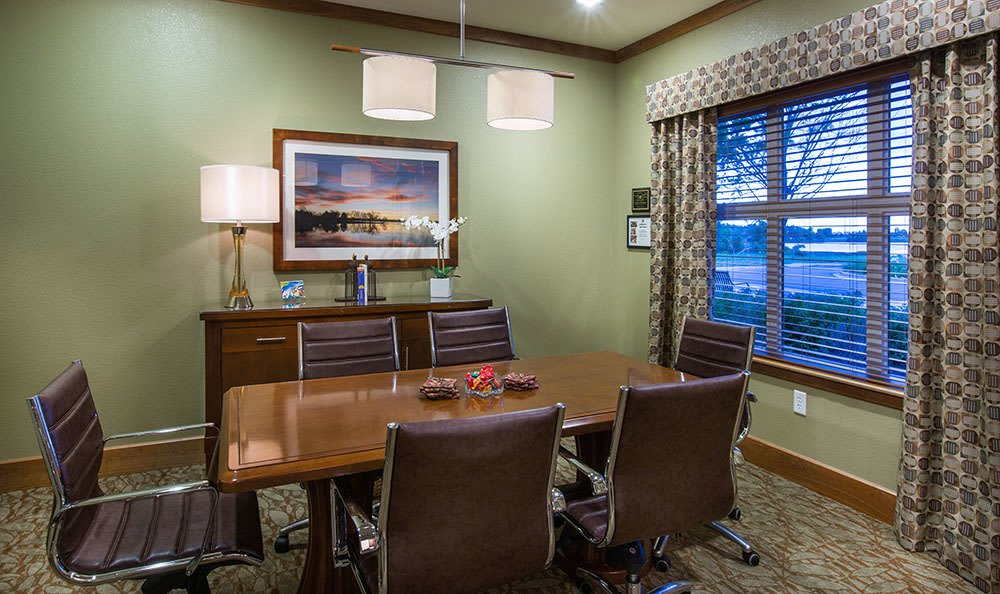 Meeting room at Seven Lakes Memory Care in Loveland