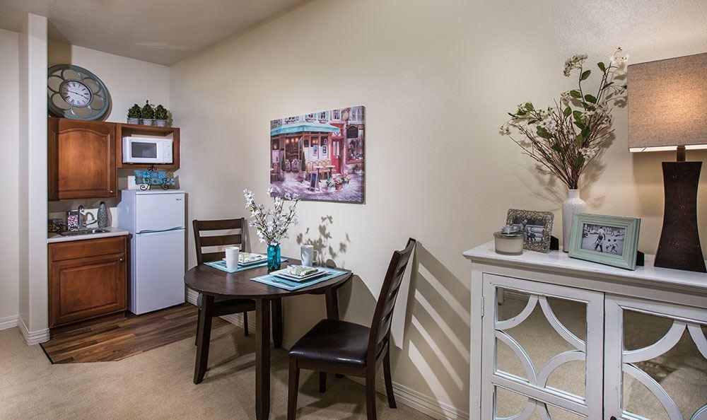 Senior living in Cedar Hills studio apartment