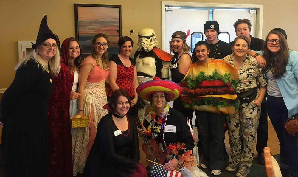 Halloween Costumes at the senior living in Cedar Hills