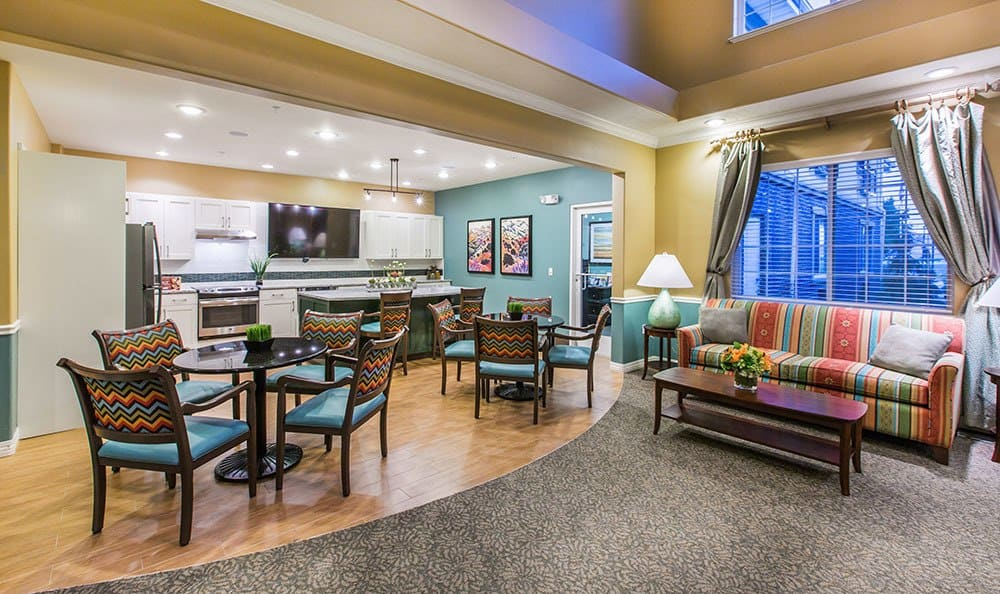 Cedar Hills senior living community with decorated common rooms