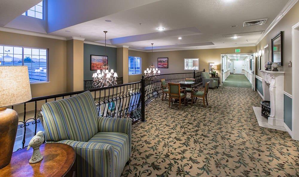 Welcoming hallway at the senior living community in Cedar Hills