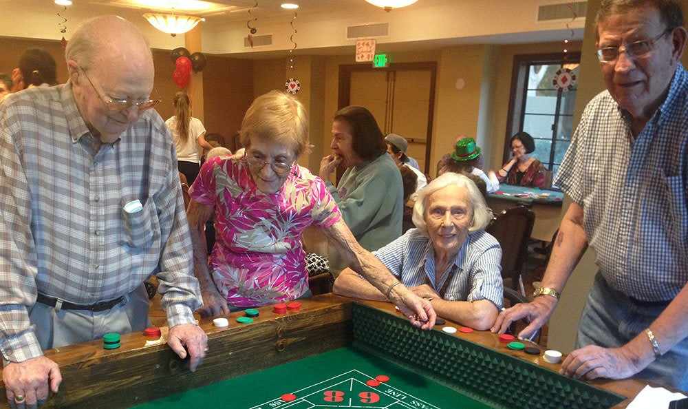 Residents enjoying a casino at the senior living community in Tucson