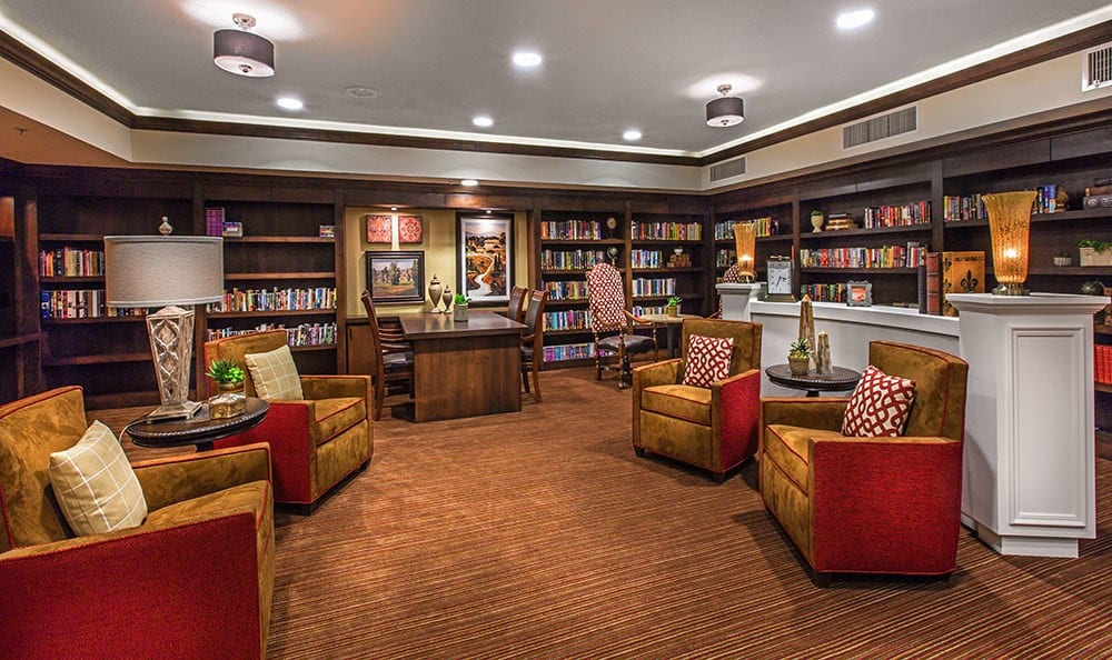 Tuscon senior living community has a lavish library