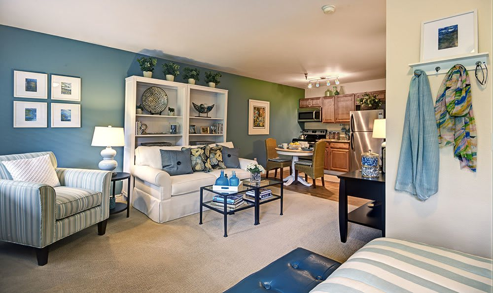 Senior living in Olympia has a modern apartment style