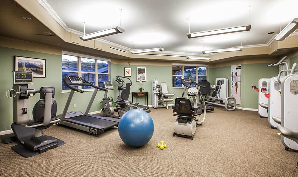 Colorado springs co senior living near cheyenne mountain Living room gym