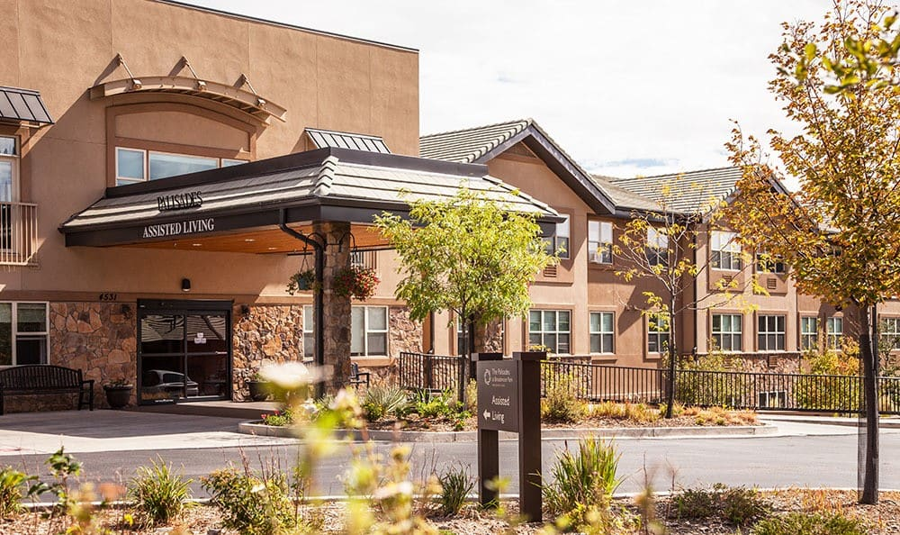 Clean exterior building at the senior living facility in Colorado Springs