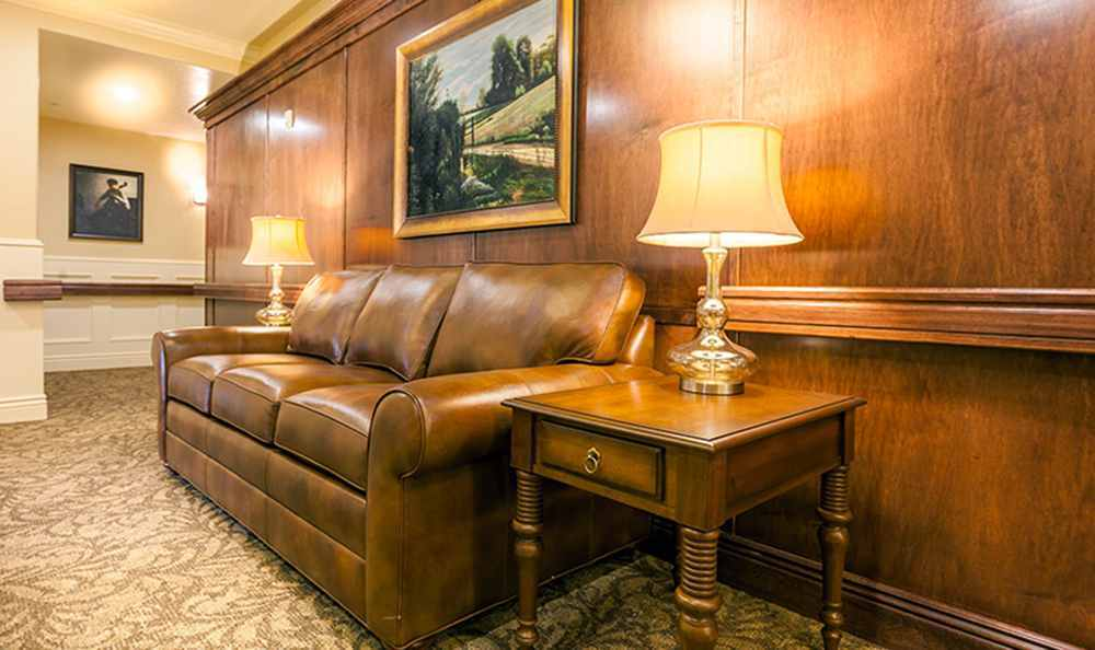 Highland Senior Living community has a Common Couch