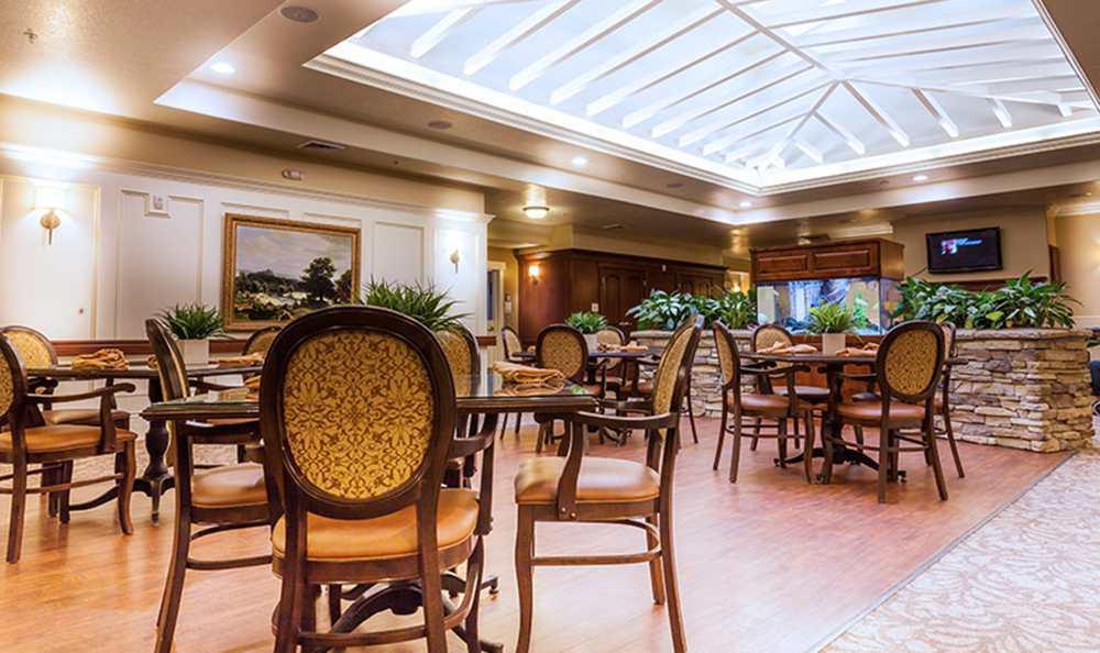 Highland Senior Living has a spacious Dining Area