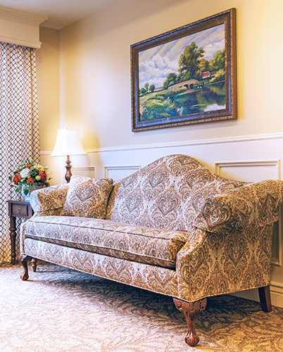 Relaxing couch area at the senior living community in HighlandHighland  UT Senior Living near Alpine   Highland Glen. Alpine Living Center Phone Number. Home Design Ideas
