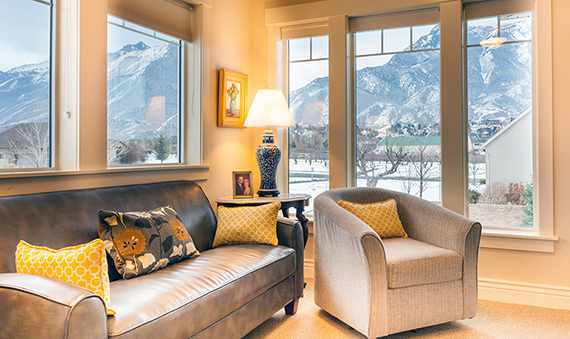 Spacious Living Room at the Senior Living in HighlandHighland  UT Senior Living near Alpine   Highland Glen. Alpine Living Center Phone Number. Home Design Ideas