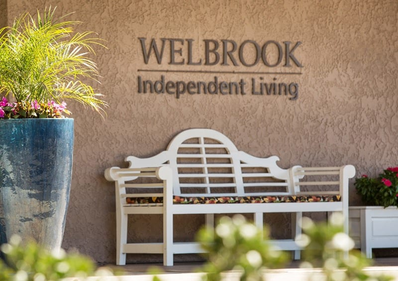 Welbrook Arlington senior living community front Riverside