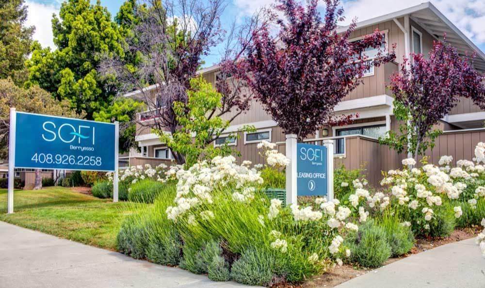 Beautiful entryway at Sofi Berryessa in San Jose, CA