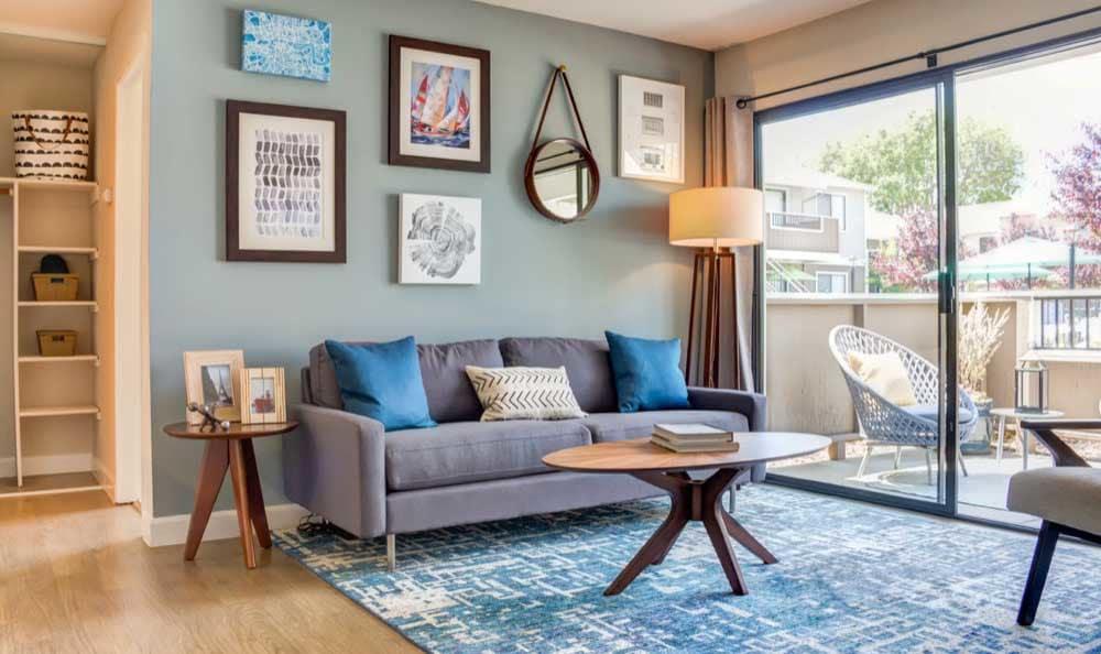 Beautiful living room at apartments in San Jose, CA