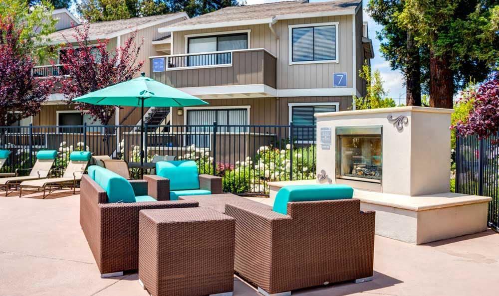 Beautiful bbq area at Sofi Berryessa in San Jose, CA