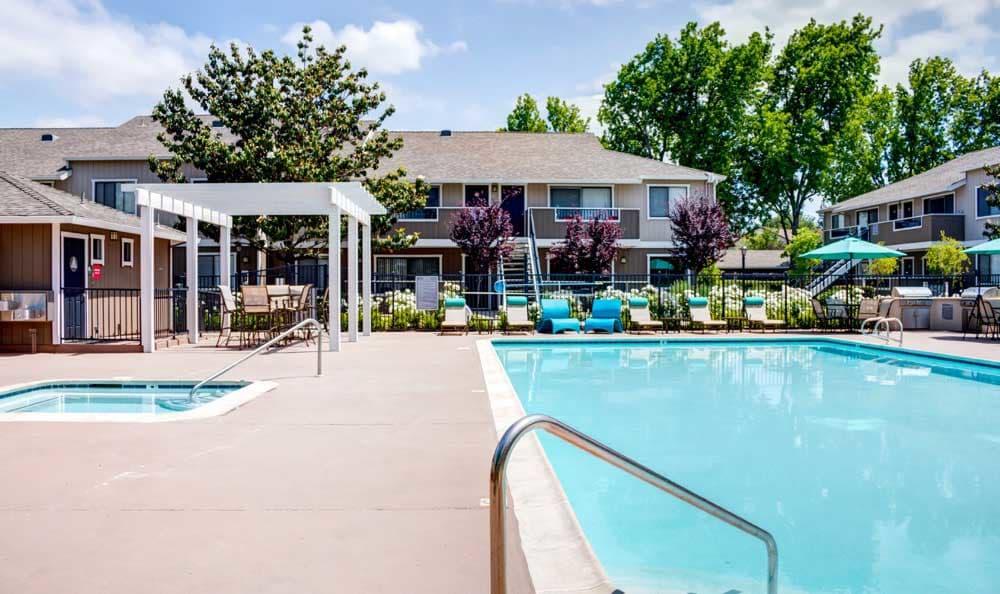Swimming pool at apartments in San Jose, CA