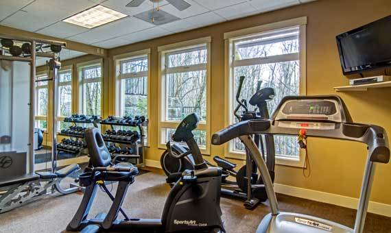 Beautiful fitness center at Sofi at Forest Heights in Portland, OR