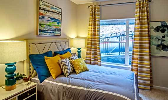Sofi at Forest Heights offers a beautiful bedroom in Portland, OR