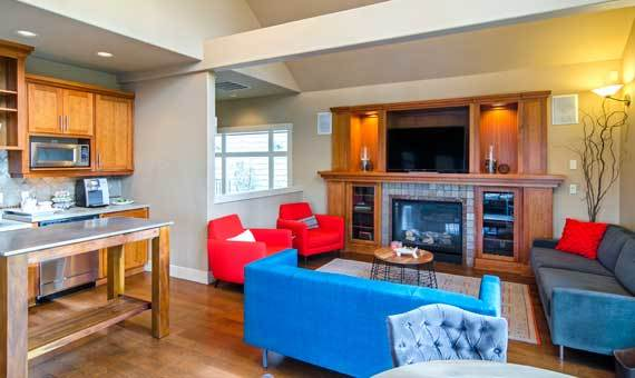 Beautiful living room at Sofi at Forest Heights in Portland, OR