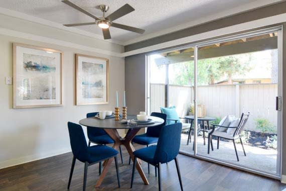 Fremont apartments includes living rooms with attached patios