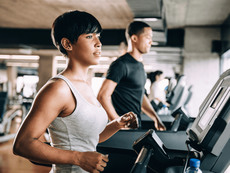 Getting a workout in is easy at Vue Hollywood in our fully equipped fitness center.
