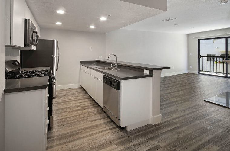 Example kitchen At Vue Hollywood In Los Angeles CA