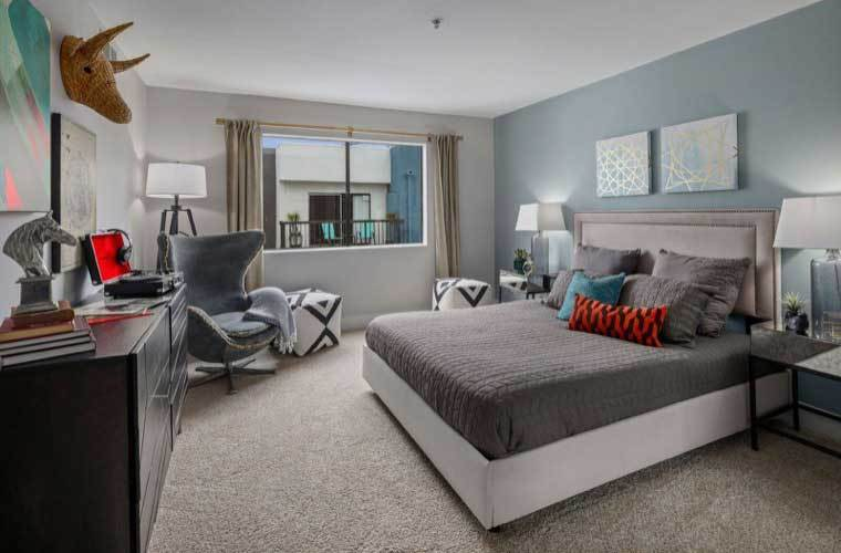 Example bedroom At Vue Hollywood In Los Angeles CA