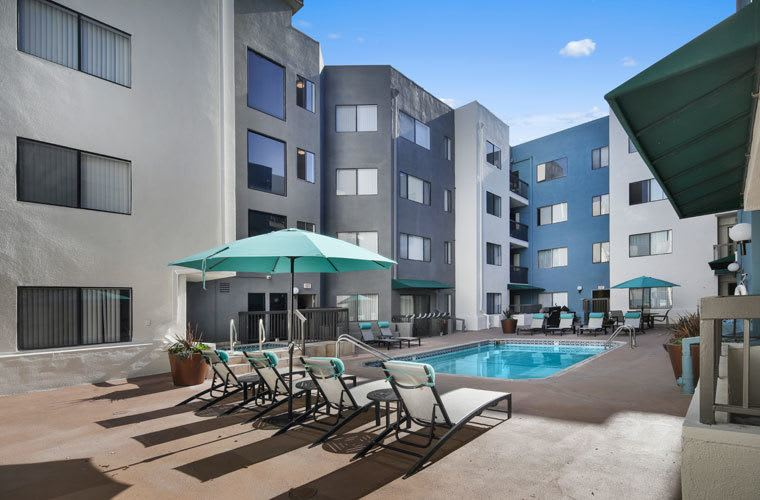 Pool At Vue Hollywood In Los Angeles CA
