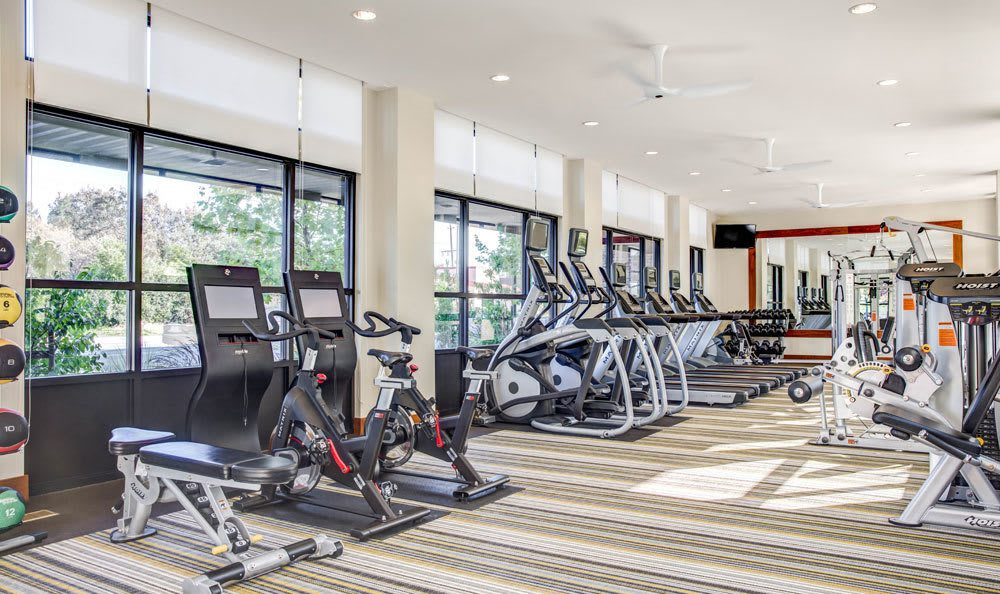 Modern fitness center at Brio in Walnut Creek, CA