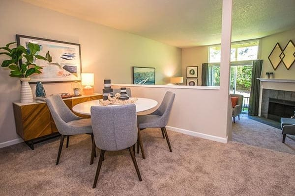Comfy dining at apartments in Beaverton, OR