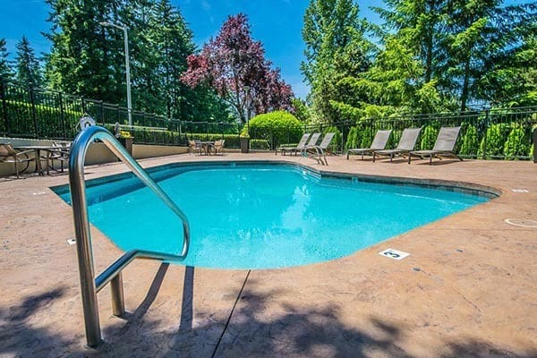 The pool at apartments in Beaverton, OR