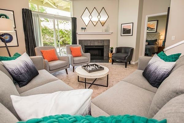 Our beautiful apartments in Beaverton, Oregon showcase a living room