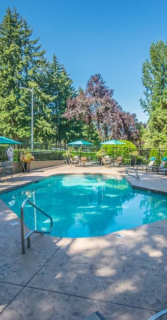 Swimming pool at our apartments in Beaverton