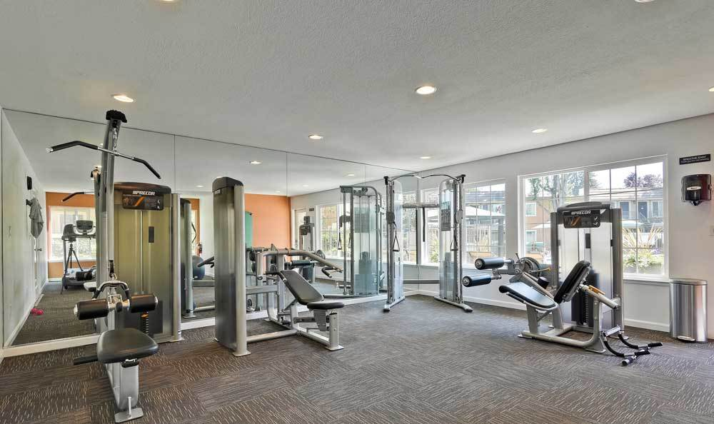 Beautiful fitness center at apartments in San Jose, CA