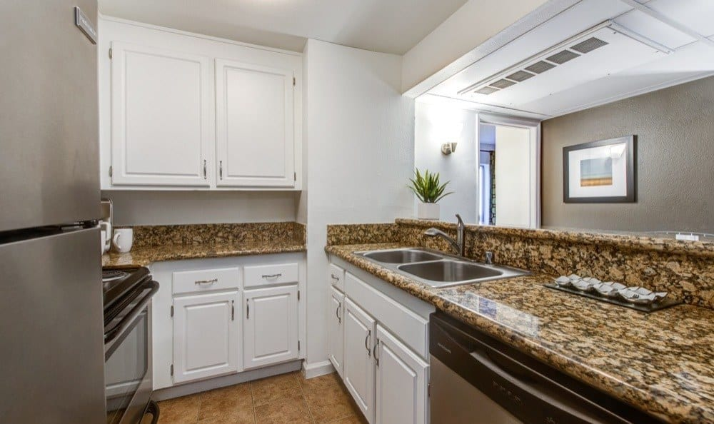 Spacious kitchen at apartments in Woodland Hills, CA