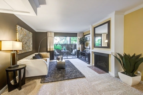 Luxury living room at Alura in Woodland Hills, CA