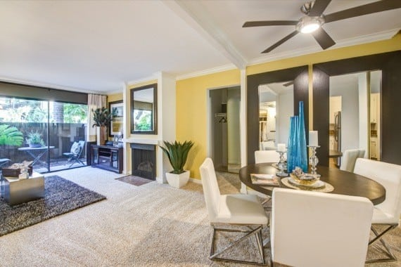Spacious living room at Alura in Woodland Hills, CA