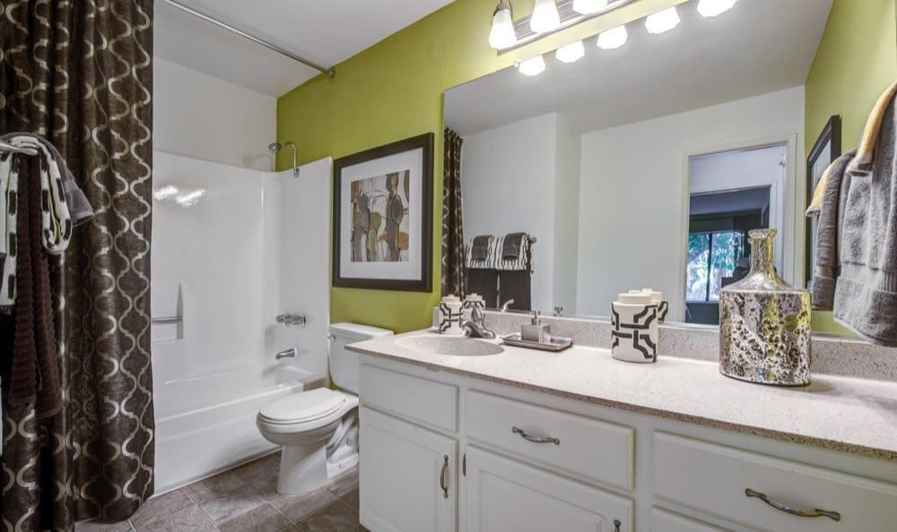 Spacious bathroom at Alura in Woodland Hills, CA
