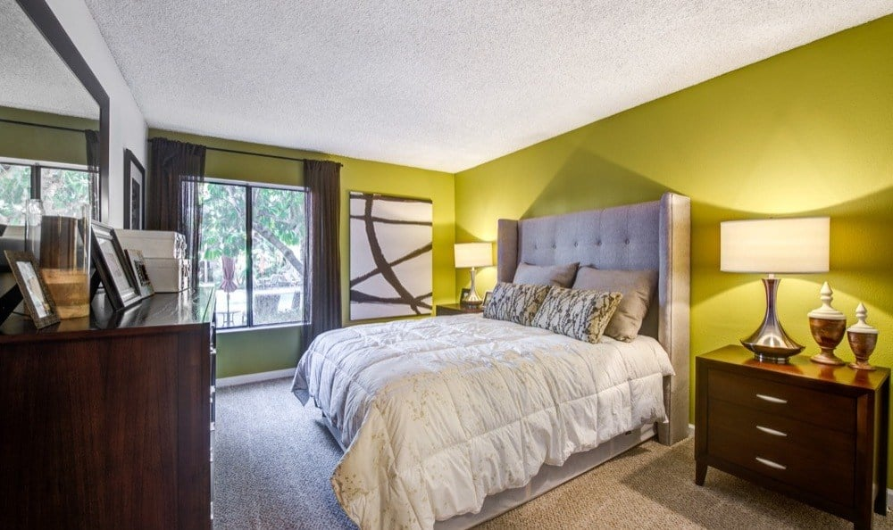 Luxury bedroom at Alura in Woodland Hills, CA