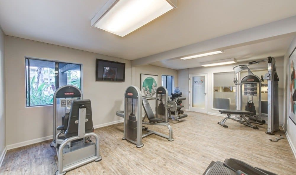 Modern fitness center at Alura in Woodland Hills, CA