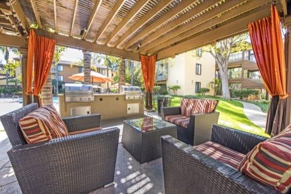 Luxury bbq area at Alura in Woodland Hills, CA