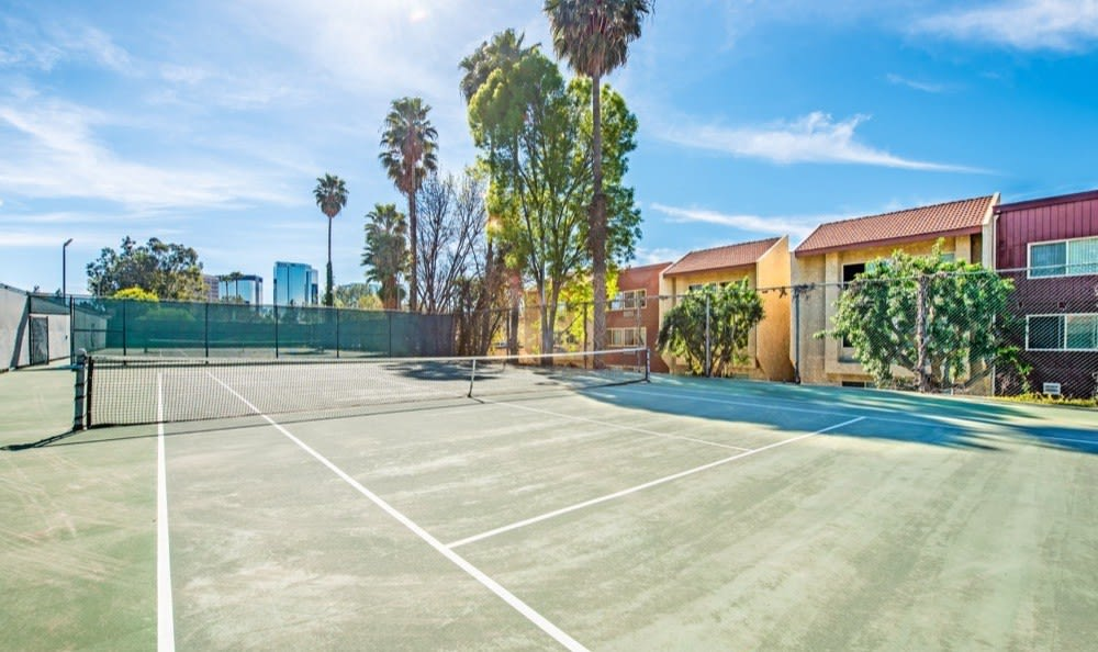 Beautiful tennis court at Alura in Woodland Hills, CA