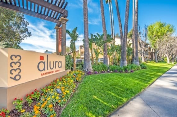 Beautiful entryway at Alura in Woodland Hills, CA