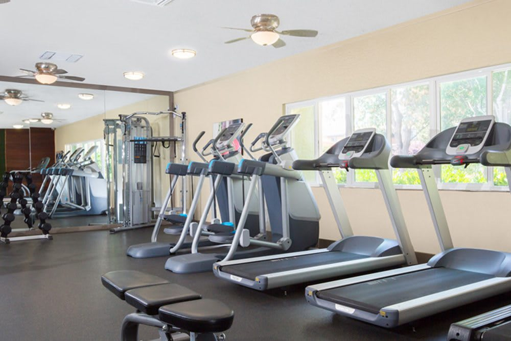 Fremont apartments feature a fitness room