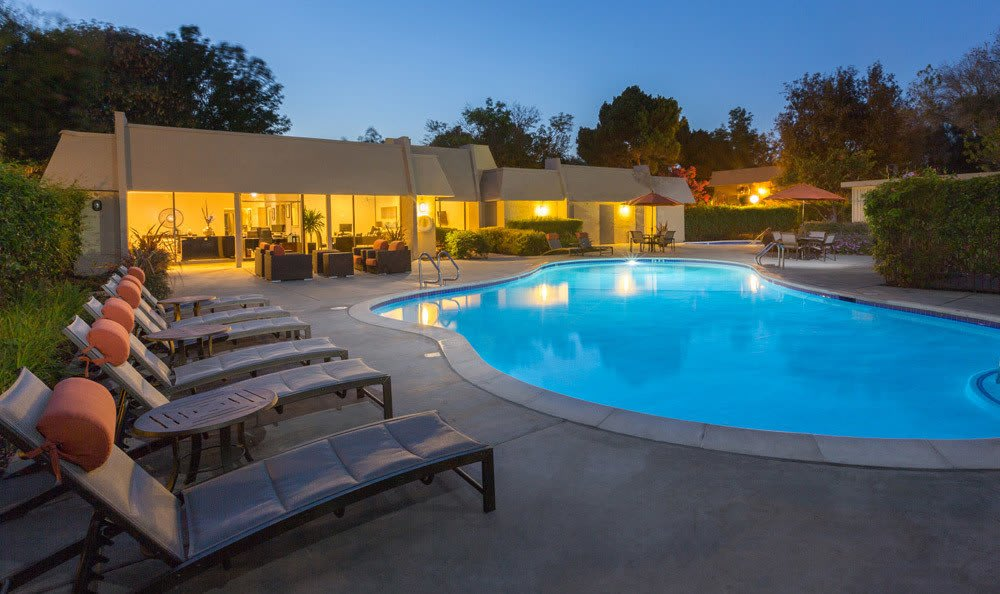 Our Apartments at Waterstone Fremont In Fremont CA includes poolside lounging