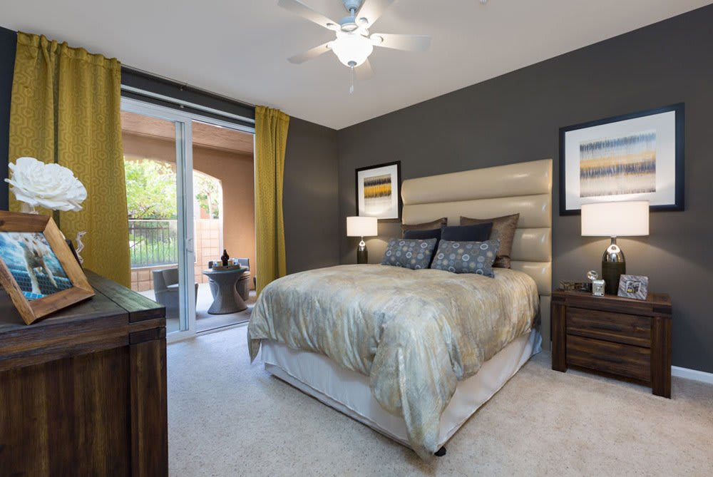Cozy bedroom at Sunnyvale apartments