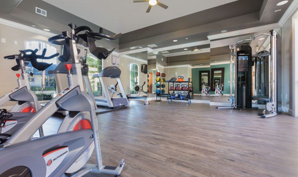Fitness center At Villa Del Sol In Sunnyvale CA