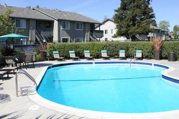 Pool at apartments At Vue Fremont In Fremont CA