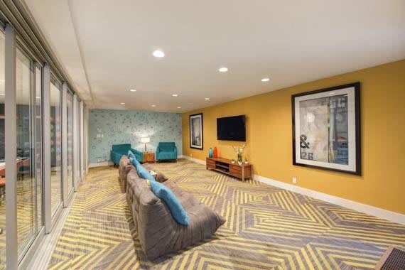 Sunnyvale apartments includes an entertainment space
